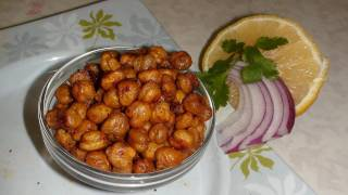 Roasted Chickpeas Or Garbanzo Beans Recipe Video - Chhole Chana Garam
