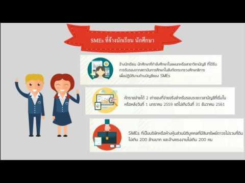 สิทธิประโยชน์ทางภาษีสำหรับผู้ประกอบการ SMEs  กรมสรรพากร
