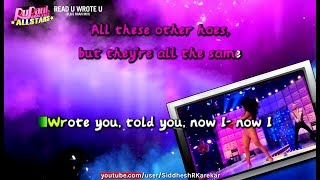 RuPaul All stars 2 - Read U Wrote U (Instrumental / karaoke) with lyrics