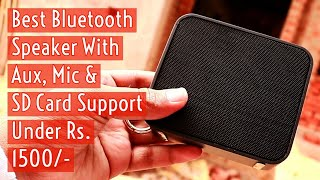 Best Bluetooth Speaker Under 1500, Maono AU-U3 Better than Xiaomi Pocket Speaker | Hindi