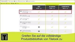 Greifen Sie auf die vollständige Produktbibliothek von Tilelook zu