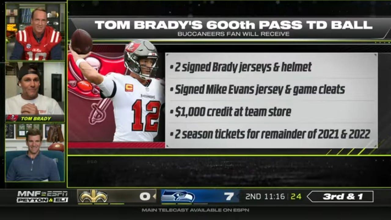 Eli Manning roasts Tom Brady during MNF broadcast: 'I enjoyed all ...