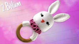 Amigurumi Tavşan Çıngırak Tarifi - Ahşap Halkanın Etrafını Örme 2-3