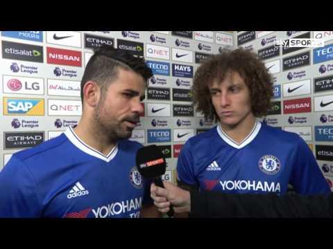 Manchester City 1 - 3 Chelsea - David Luiz & Diego Costa post-match reaction