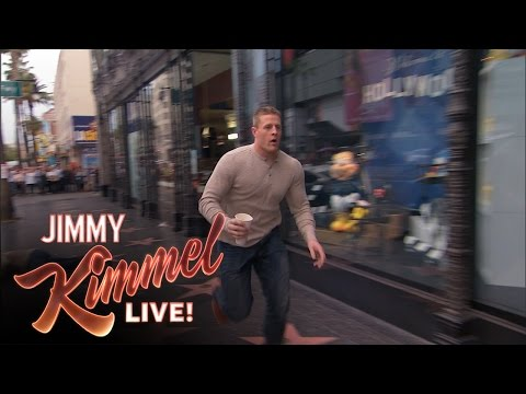 J.J. Watt Gets Jimmy Kimmel a Latte