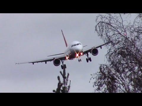 DANGEROUS Crosswind Landing During Heavy Storm  │ Air Berlin Airbus A321 │ Germany, Berlin 31.03.15