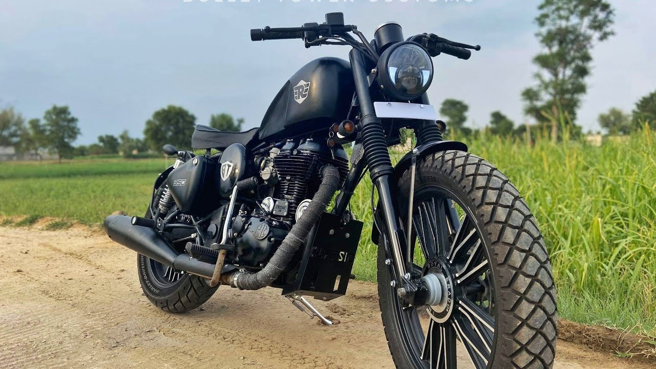 Royal Enfield Modifications |classic 350 into Harley |Bike Modifications|Bullet Tower sikar