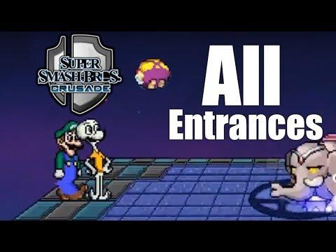 Super Smash Bros Crusade V0.9.1 - All Entrances