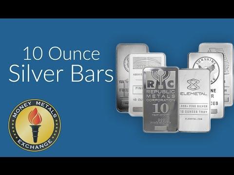 10 Oz Silver Bar | Money Metals Exchange