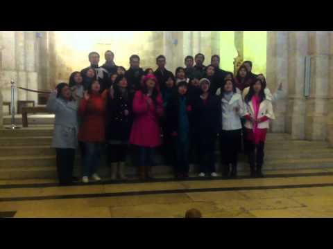 Indonesian group singing in St. Ann Church