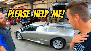 homepage tile video photo for My Lamborghini Diablo is MOANING in PAIN!