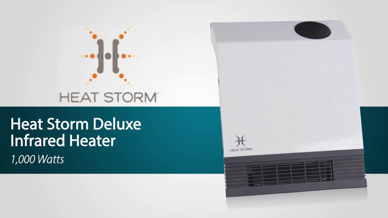 Heat Storm Deluxe Wall Infrared Heater Sylvane Youtube