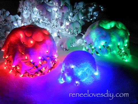 Lighted Christmas Balls - YouTube