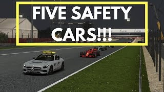 FIVE SAFETY CARS!! (F1 2018 Career Mode - Bahrain R2 | S1)