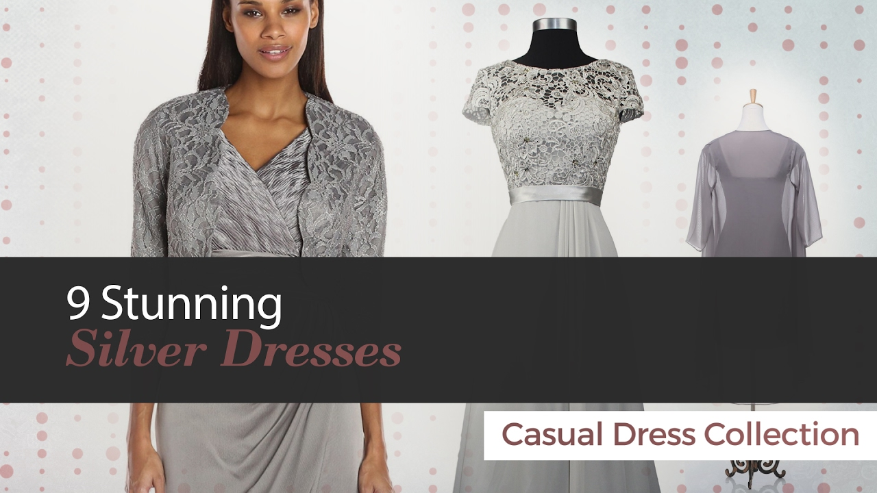 9 Stunning Silver Dresses Mother Of Bride Dress Collection