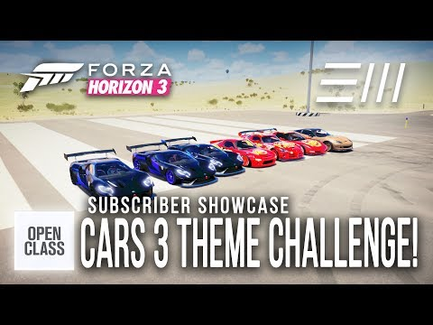 Forza Horizon 3 - CARS 3 CHALLENGE!!! (Drag/Circuit/Mini Games) Subscriber Showcase