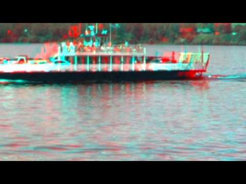 Ferry in 3D Madeline Island to Bayfield WI