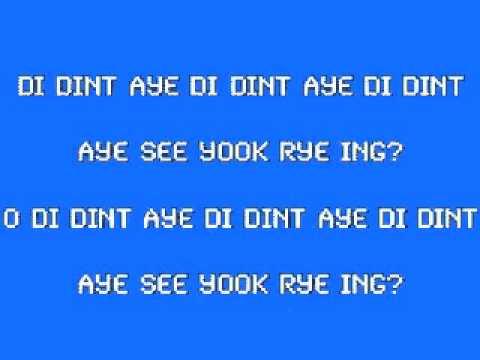 aye wantum oot oo wantum ee (karaoke)