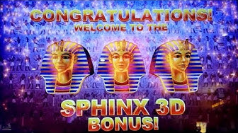 SPHINX 3D Slot Machine BONUSES Won | VERY NICE SESSION