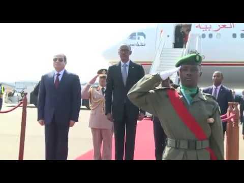 Kwakira no gusezera perezida wa Misiri Abdel Fattah el-Sisi