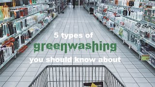 5 TYPES OF GREENWASHING // reacting to greenwashing ads and products