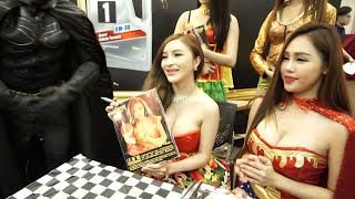 巨乳 陳安娜 - 超低胸G奶寫真發報 @ CTE 香港名車裝配展