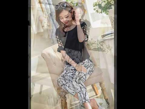 ชุดเดรสกางเกงขายาว สไตล์แฟชั่นเกาหลีสวยๆ