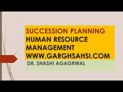 SUCCESSION PLANNING HUMAN RESOURCE MANAGEMENT
