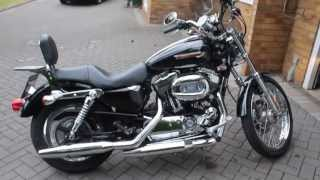 Before Stage 1 tune and Slash cuts pipes Harley Sportster