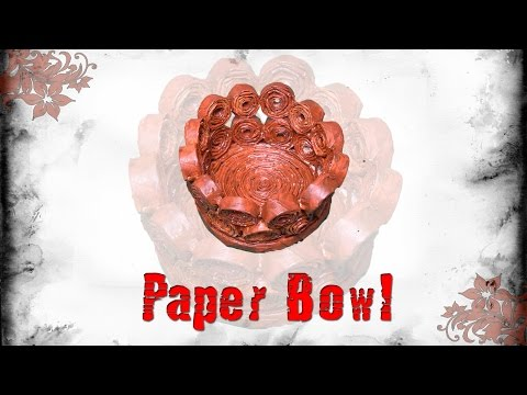 How to make Paper Bowl | Paper Art | Children Art & Craft | Best out of waste