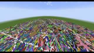 minecraft if mobs placed a wool block beneath them as they moved 10 hour timelapse