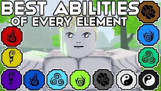 The BEST Abilities Of EVERY ELEMENT In Shindo Life