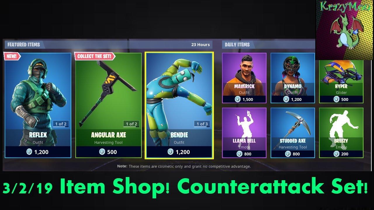 NEW COUNTERATTACK SET! Fortnite Item Shop 3/2/19!
