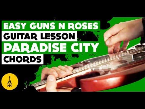 Easy Guns N Roses Songs On Guitar Paradise City Chords Acoustic