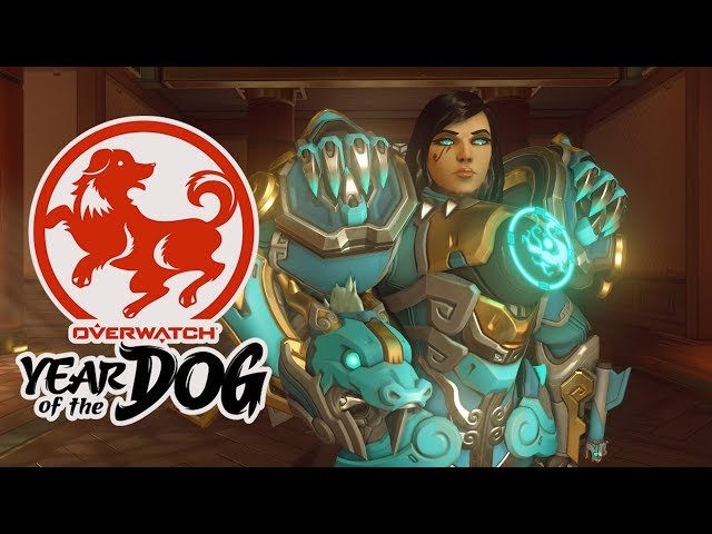 Overwatch: All Year of the Dog Skins In Game | Lunar New Year Event 2018