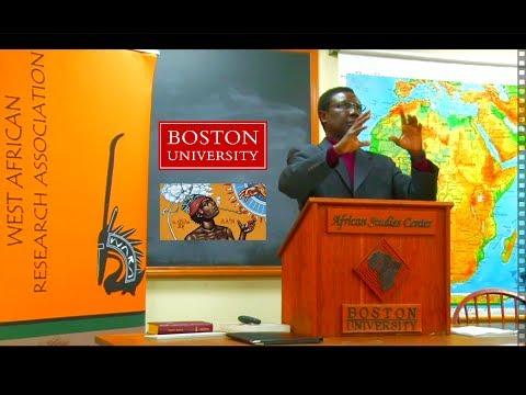Dr. Aliou Cisse Niang, BU African Studies Center, Oct 2017: Intro + Q&A