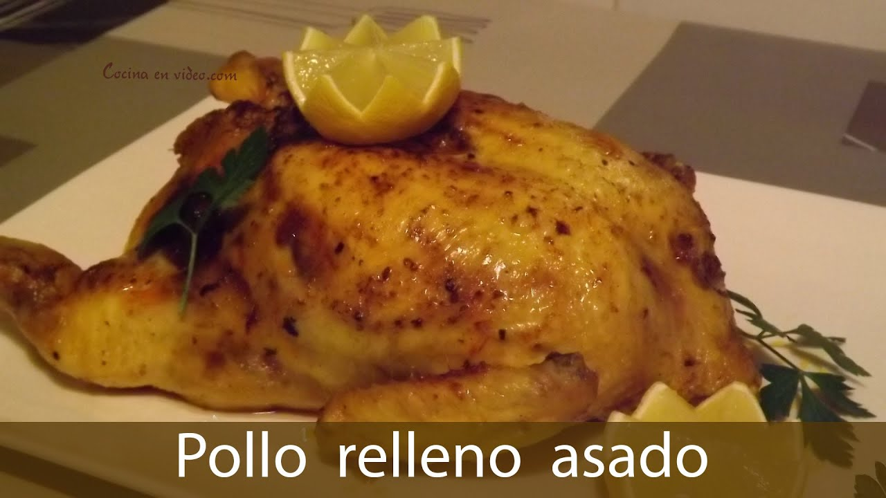 Pollo relleno al horno sin huesos stuffed chicken youtube for Como cocinar pollo relleno