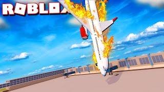 Roblox Adventures - REALISTIC PLANE CRASH IN ROBLOX!? (Plane Simulator)