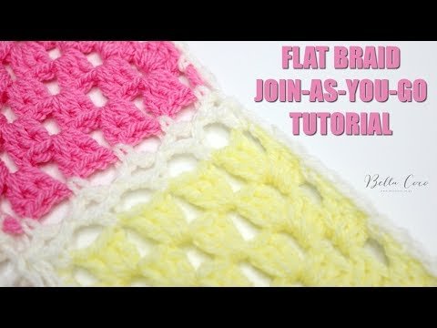 CROCHET: Flat Braid Join-As-You-Go Tutorial | Bella Coco
