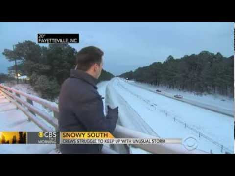 Stranded, cold motorists spend nights on freeways after rare snow in South