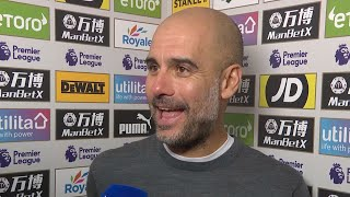 'I'll be watching golf, not Liverpool!' | Guardiola discusses the title race after win over Palace