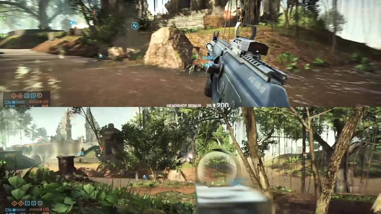 Battlefield 4 Operation Outbreak Split Screen Co Op Youtube