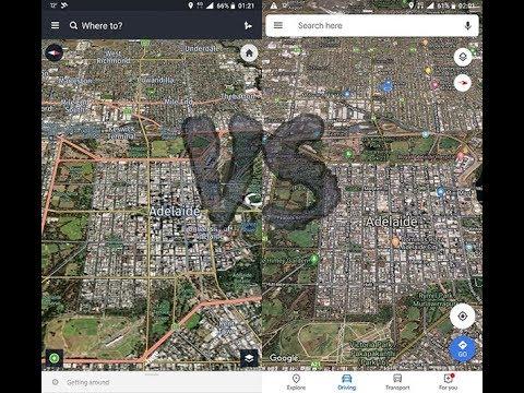 HERE WeGo vs Google Maps - On Road Comparison