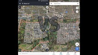 HERE WeGo vs Google Maps - On Road Comparison screenshot 2