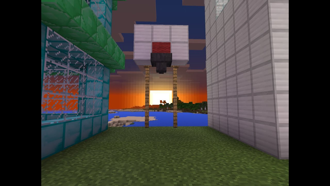 Minecraft pe how to build a basketball hoop youtube for How to build a basketball goal