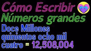 Como aprender a escribir números grandes en español - Matemáticas para niños - Aprende con Ame