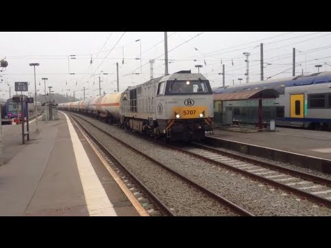 Fast Freight Train passing through Gare De Lens, France