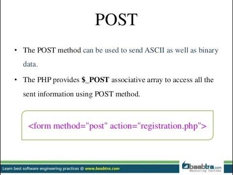 PHP - POST METHOD IN DETAIL