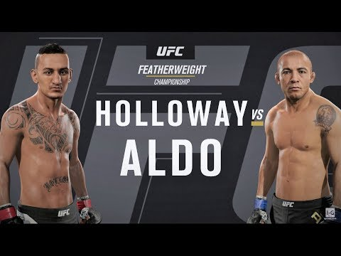 EA Sports UFC 2 - Max Holloway vs Jose Aldo 2 UFC 218 Full Fight Simulation