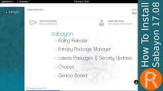 How To Install Sabayon 17.08